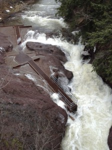 Fish Ladder at high water